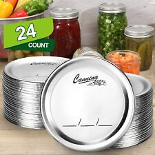 24-Count, [WIDE Mouth] Canning Lids for Ball, Kerr Jars - Split-Type Metal Mason