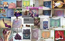 25 PCS Indian Mandala Tapestry Wall Hanging Throw Twin Bedspread Wholesale Lot