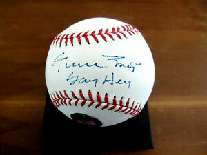 WILLIE MAYS SAY HEY GIANTS METS HOF SIGNED AUTO BASEBALL OML SAY HEY AUTHENTIC