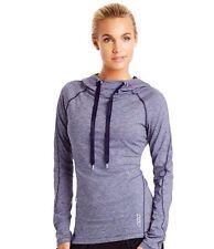 Lorna Jane Heathered Gray Black Hoodie XS Top Jacket  *RARE* $108 Lululemon Bag