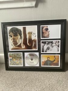 Signed Ian Brown Stone Roses Framed Picture 99p Auction Start