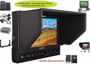 "Lilliput 7"" 662/S2 IPS 3G-SDI SDi/HDMI Cross Conversion+Anton Bauer M + Suitcase"