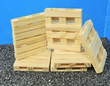 LOT OF WOODEN PALLETS (SIX) 1:24 (G) SCALE  READY FOR DISPLAY!