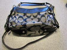 Coach signature handbag with removeable crossbody strap
