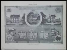 AUVERS SUR OISE, VILLA - 1904 - GRANDE PLANCHE ARCHITECTURE - LOUIS SEZILLE