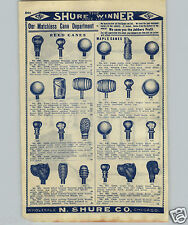 1907 PAPER AD 7 PG Carnival Cane Canes China Baseball Dog Crook Handle Metal