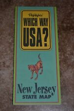 "Highlights Which Way Usa? New Jersey State Map ""Vgc"""