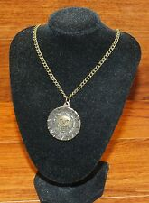 Walt Disney Pirates of the Caribbean Bronze Treasured Coin 26 Inch Necklace READ