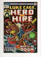 Hero for Hire #11 LUKE CAGE 1973! Mr Death Conclusion! 1 BLACK COVER in VF- 7.5!