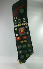 Vintage Girl Guides Sash w/ Merit Badges Patches Pioneer Valley 502 Be Prepared