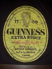 GUINNESS RELAXED FIT TEE T-SHIRT SHIRT BROWN DISTRESSED LABEL SHIRT XL