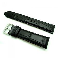 Tommy Hilfiger Ersatzband Leder schwarz Krokoprägung Stegbreite 23mm
