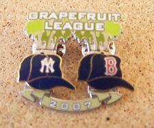 2007 NY New York Yankees vs Boston Red Sox Spring Training Grapefruit League pin