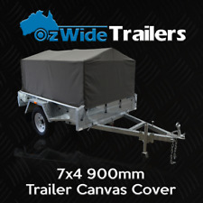 7X4 900MM TRAILER CAGE CANVAS COVER