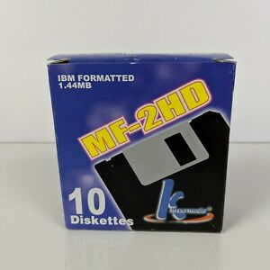 IBM formatted MF-2HD 1.44 MB diskettes. Open Box with 9 disks (C74)