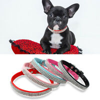 10pcs Bling Full Rhinestone Small Dog Collars Crystal Diamond Buckle Wholesale