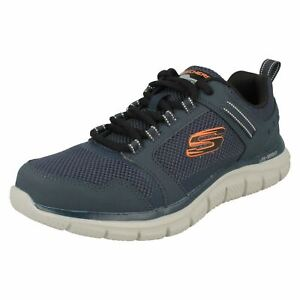 Mens Skechers Lace Up Trainers With Memory Foam - Knockhill