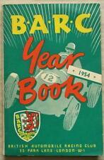The BARC YEAR BOOK 1954 British Automobile Racing Club MOTOR SPORT
