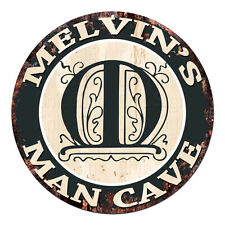 CPMC-0124 MELVIN'S MAN CAVE Rustic Chic Tin Sign Man Cave Decor Gift Ideas