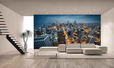 Chicago Skyline Wall Mural Photo Wallpaper GIANT DECOR Paper Poster Free Paste