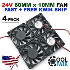 60mm 10mm 24V Cooling Case Fan 6010 PC Computer CPU 6cm 60x60x10mm 2-Pin 4-Pack