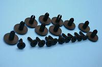 10 X MERCEDES BENZ BLACK PLASTIC RIVET TRIM PANEL RETAINER FASTENERS CLIPS