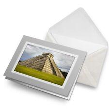 Greetings Card (Grey) - Chichen Itza Temple Maya Mexico  #8877