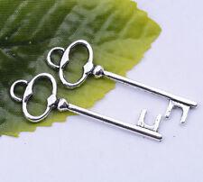 Wholesale 10pcs Tibetan Silver beautiful padlock key charm pendant 40x13mm#A5302