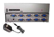 8-Way Port SVGA VGA Multi Video Monitors Duplicator 450MHz Amplified Splitter