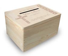 gr. Holzbox Briefbox (K2) Konfirmation Kommunion Geldgeschenke incl. Lasergravur