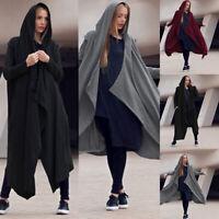 S-5XL Womens Cardigan Sweater Shawl Coat Jacket Autumn Winter Long Hoodie Jacket