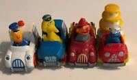 1981 Sesame Street Muppets Hasbro Die Cast Car Lot of 4