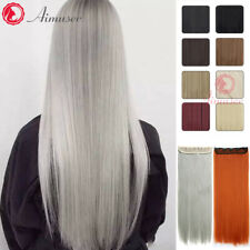 UK Seller Clip in Hair Extensions Curly Straight Synthetic Thick Long Soft Silky