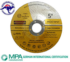125MM GRINDING DISC WHEEL 6MM ANGLE GRINDER  STAINLESS & ALL METALS  FLAP