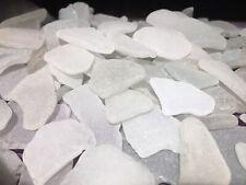 Genuine White Sea Beach Glass Small - Medium Craft Quality Bulk Lot 60 Pieces