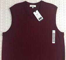 TURNBURY Men's Biella Merlot Red Merino WOOL Sweater Vest L Large New NWT $59.50