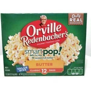 Orville Redenbacher's Smart Pop Butter Popcorn 12 Bags (76.3g) each