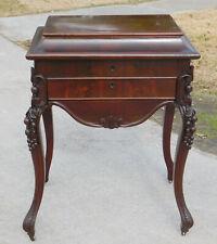 Mahogany Pot Belly Sewing Stand Table circa 1850