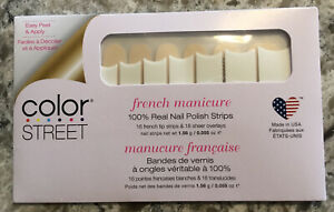 Color Street Nail Strips ~ City Of Love French Manicure - NEW, Sealed