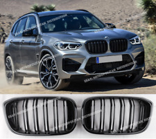 BMW G01 X3 2017+,double bars X3M M performance competition grilles,Gloss Black
