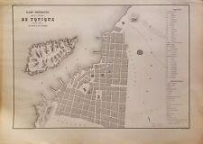 PERÚ,plano ciudad de Yquique. Paz Soldán.Geografía del Perú 1865.