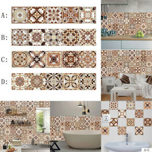 1x Tile Stickers Vintage Stair Decals Self-Adhesive Home Staircase Decor PVC