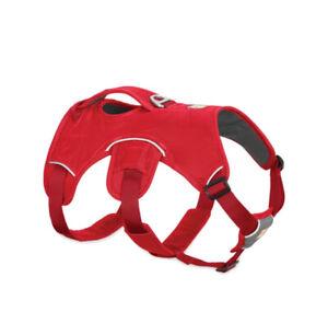 RUFFWEAR WEB MASTER DOG HARNESS W/HANDLE IN RED CURRANT SZ MEDIUM NWOT