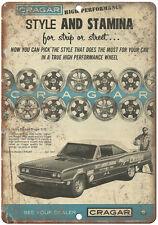"1967 Cragar Rims, Speedway, Racecar 10"" x 7""  Retro Metal Sign"