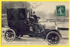 SUPERBE CPA Métier PARIS 1910 AUTOMOBILE VOITURE TAXI Femme Cochère Chauffeuse