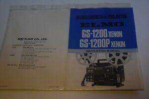 Super 8 Bedienungsanleitung - Instruction Manual für Elmo GS 1200 Xenon
