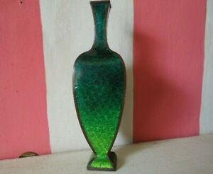 Vintage/Antique Japanese Ginbari Enamel Vase Striking 4 Sided Shape