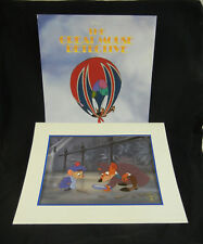 GREAT MOUSE DETECTIVE Basil & Olivia Disney Store Lithograph w/Original Envelope