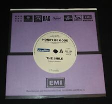 THE BIBLE 45 MINT - HONEY BE GOOD 1980s  ROCK ON CHRYSALIS Steve Earle Produced