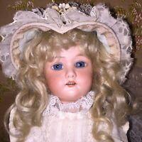 """Antique Bisque Doll C. M. Bergman 13"""" Bride"""